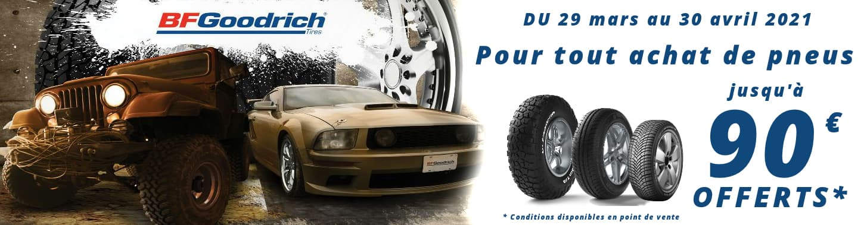 Jusqu'à 90€ remboursés pour l'achat de pneus BFGoodrich