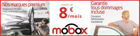 Pneus, garantie, montage tout compris, à partir de 8€/mois